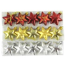 5cm Glittery Star Pendant Hanging Ornament Xmas Christmas Tree - 2015 Home Store store