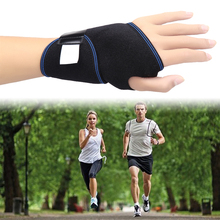 1 Pcs Portable Wrist Support Self-Heating Wrist Belt Adjustable Wrist Brace Magnetic Therapy Fractures Sprain Band Black