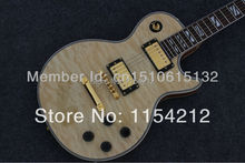 Wholesale Vicers electric guitar LP with quilt flame,Light Yellow burst finished, blue binding with gold hardware