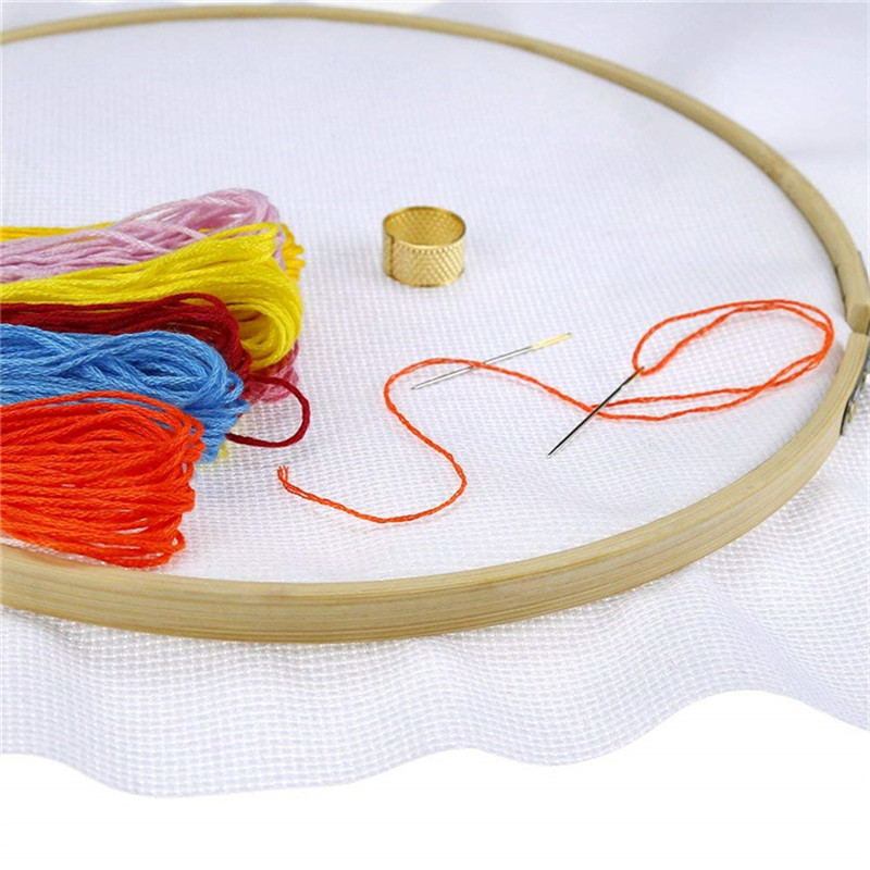 Looen 1 Piece 11CT Cross Stitch Fabric Aida Cloth Handmade Needlework Stitching Embroidery Cloth Craft DIY Sewing Handcraft Tool (7)