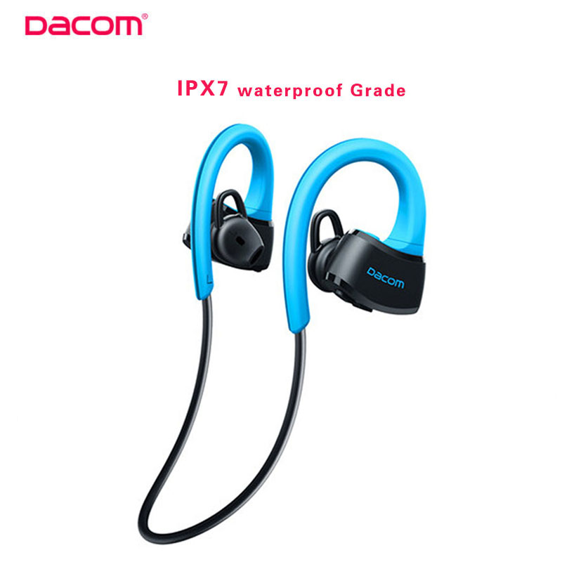 Dacom P10 IPX7 Waterproof Bluetooth Wireless Headphone Swimming Earphone Ear-Hook Running Sport for Iphone 7/7p Android<br><br>Aliexpress