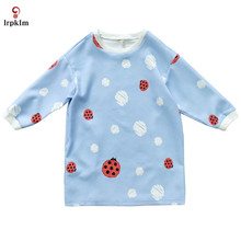 2017 Women Cute Seven Star Ladybugs Print Pullovers Spring Style Long Sleeve Sweatshirts feminine Casual Street Wear Tops YY681