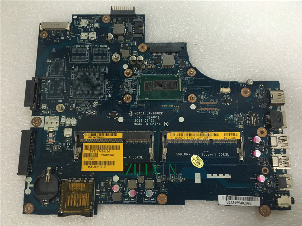 yourui 00GCY 000GCY CN-000GCY VBW01 LA-9982P for Dell Inspiron 15R 5537 3537  laptop motherboard i5-4200U Main board full test