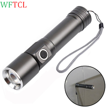 WFTCL Rechargeable flashlight 18650 brightest flashlight 240LM taschenlampe with Magnetic Mini LED Torch lanterna for camping