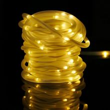 High Quality 7M 50 LED Solar Rope Tube Led String Strip Fairy Light Outdoor Garden Xmas Christmas Party Decor Waterproof(China)