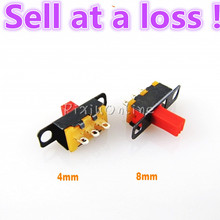 High Quality!2pcs/lot YL284  Mini 3-Pin Holes Toggle Switches Circuit DIY Modle Sell at a loss Free Shipping Russia