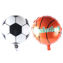 10pcs/lot Wholesale Football & Basketball Balloon Aluminum Foil Balloons Party Decoration Balloon Celebration Supplies