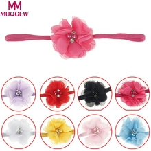 2017 Newest Design Baby Girl Flower Headband Infant Hairband Pearl Kids Head Bands Children Multicolor Girls Hair Accressories(China)