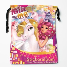 Best Mia And Me Drawstring Bags Custom Storage Printed Receive Bag Compression Type Bags Size 18X22cm Storage Bags