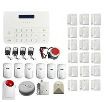 Wireless Home Household Office Security Alarm System GSM Dialer Infrared Motion Detector Door Window Sensor Mobile APP Control