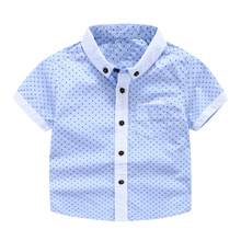 New Baby Summer Childrens Boys Children Color Dot Short Sleeve Shirt Costume For Kids Boys Clothes Roupas Infantis Menino T(China)