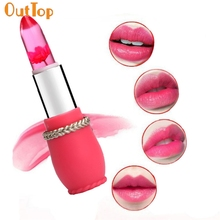 OutTop 4 Color Choice Women's Flowers Jelly Waterproof Long Lasting Moisturize Lipstick 0412 Drop Shipping