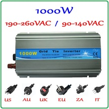 1000W MPPT grid tie inverter,10.5-28VDC to AC120V or 230V pure sine wave output solar wind power inverter,2year quality warranty