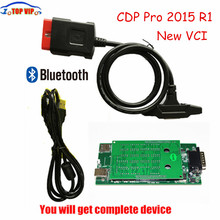 Lowest price 2014.R2 keygen /2015 R1 Diagnostic Tools CDP NEW VCI Bluetooth Cars /Trucks /Generic 3 IN 1 CDP PRO PLUS(China)