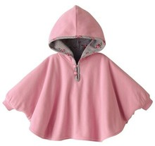 Fleece Baby Coat Babe Cloak Two-sided Outwear Floral Baby Poncho Cape Infant Baby Coat Children's Clothing(China)