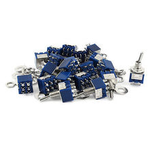AC125V 6A DPDT ON-ON 2 Positions 6 Pin Latching Miniature Toggle Switch 20pcs