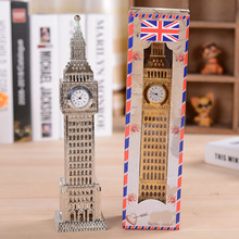Clock tower Big Ben clock tower in Paris time round metal ornaments home office desktop clock table clock gift