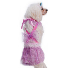 Dog Performing Skirt Pets Dogs Cat Dress With Bowtie For Festival Party Performance Clothing Costume