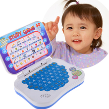 Baby Kids Plastic Study Game Learning Machine Toy Mini Intellectual Song English Chinese Language Learning PC Machine