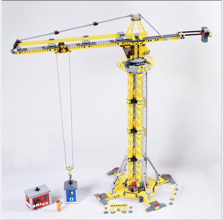 Lepin 02069 Genuine 778Pcs City Series The Building Crane Set 7905 Building Blocks Bricks Funny Toys DIY kids Gift For Birthday<br>
