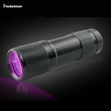 Professional Fluorescent agent detection UV 395nm led Flashlight torch lamp purple violet light For3AAA battery(China)