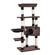 New H139 Cat Toy Scratching Wood Climbing Tree Cat Scratching Post Jumping Toy Ladder Climbing Frame Cat Furniture