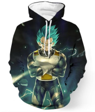 3d Animation Dragon Ball Z 3d Printed Men Hoodies With Cap Bag 2017 Fashion Handsome Head Tide Hooded Bdz Goku Men Sweatshirt