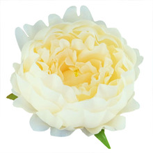 20pcs simulation peony heads DIY silk flower head for wedding party-champagne