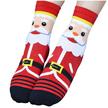 MAKE Hot Women Fashion 3D Cartoon Cotton Santa Claus Socks(China)