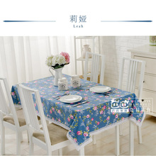 European high-grade cotton linen pastoral floral lace tablecloth round rectangle square coffee table cover customize