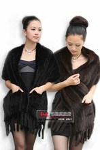 Oblong scarves knit scarves mink fur scarf mink mink Baojin(China)