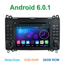 Octa Core Android 6.0 Car DVD Player for Mercedes/Benz A/B class W169 W245 Viano Vito VW Crafter B200 with BT WiFi GPS Radio
