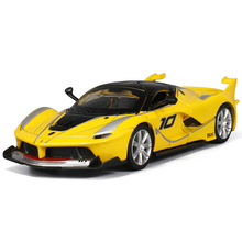 Alloy car model 1:32 sports for Ferrari children pull-back vehicle car model toy with sound and light(China)