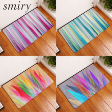 Smiry dust proof flannel light soft mats colored creative diamond carpets thin water absorption kitchen entrance door rugs pads