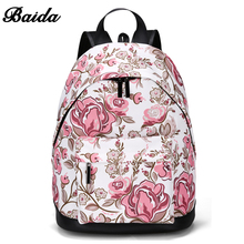 2017 BAIDA New Leisure Backpack Figure Printing  Women's Fashion bag Causal Ladies Daypack bags for School Teens Girls Rucksack