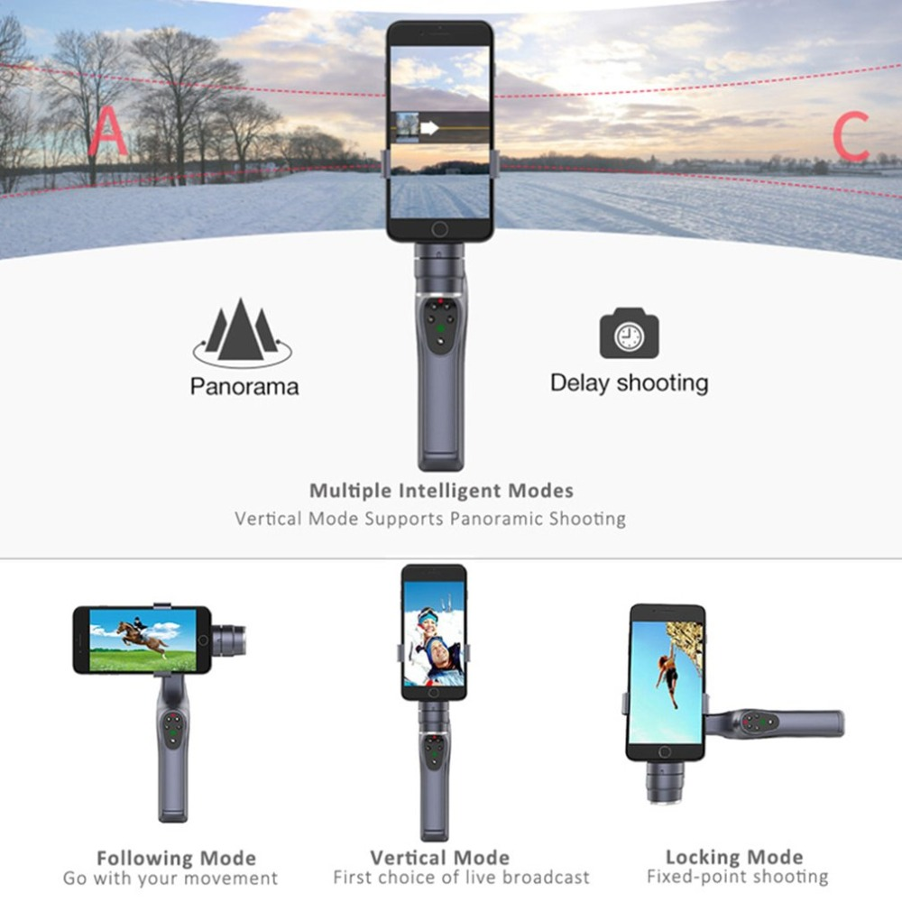 JJ-1S 2-axis Smartphone Brushless Handheld Gimbal Tray Stabilizer for GOPRO/YI/SARGO/MEEE GOU Sport Action Camera 6