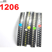 100PC/Lot 1206 LED Kit Mix Color SMD  CGKCH120