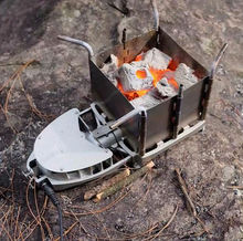 New Arrival BRS-116 Portable Outdoor Camping Picnic Wood Burning Stove Foldable Firewood Furnace Charcoal BBQ Barbecue Grill