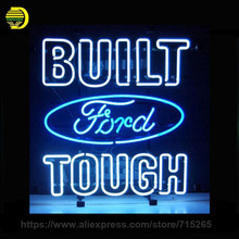 "17*14"" FORD BUILT TOUGH NEON SIGN Signboard REAL GLASS BEER BAR PUB Billiards display Restaurant Shop christmas Light Signs"