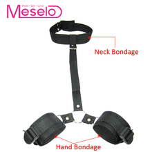 Buy Meselo Sex Slave Collar Handcuffs Adult Sex Game Bdsm Bondage Restraints Ankle Hand Cuff Fetish Erotic Sex Toys Couples