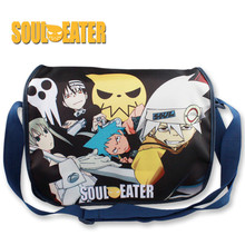 Anime Soul Eater Naruto Messenger Bag Fashion Canvas School Students Shoulder Bag #637Leisure Crossbady Bag Gift For Boys Girls