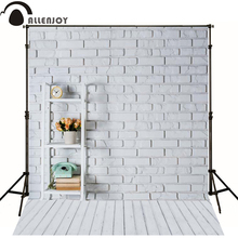 Allenjoy Photographic background Wood floor brick wall flower phone newborn photography lovely princess send rolled  wall floor