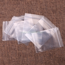 100 pcs Plastic Bags white Grip Self Press Seal Resealable Zip Lock Clear Cookie Cake Candy Bags #T025#(China)