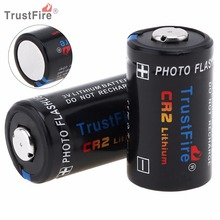 TrustFire 2pcs CR2 3V 750mAh High Capacity Lithium Battery with Safety Relief Valve for Flashlight / Headlamp / Camera