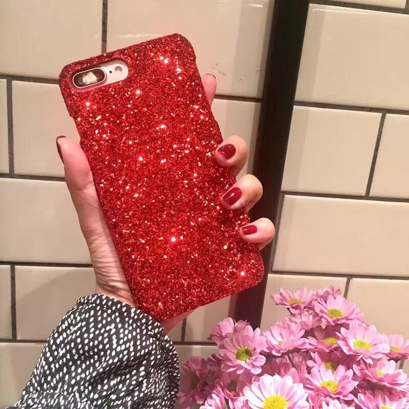 Coque Paillettes Rouge Pour iPhone