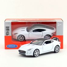 Welly DieCast Metal Model/1:36 Scale/JAGUAR F-TYPE COUPE Toy Car/Pull Back Educational Collection/Children's gift/Collection