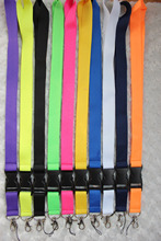 240pcs mixed Solid color lanyard high quality cute cute lanyard ID holder key neck strap free shipping(China)