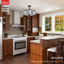12 Square Meters U-Shaped American Style Kitchen Cabinet OP16-PP03