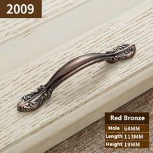 Red Bronze Furniture Knobs Cabinet Knobs and Handles poignee meuble cuisine Drawer Pulls Door Handles pomos y tiradores YJ2009