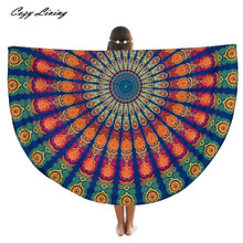 Table Cloth Round 1 PC Beach Pool Home Shower Towel Blanket Table Cloth Yoga Mat 150CM Retro Print Tablecloth Wholesale JA4